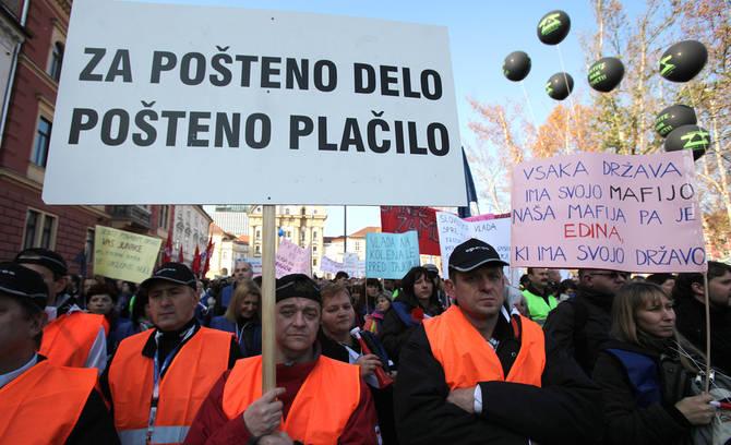 Protest u Sloveniji